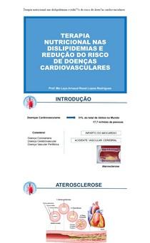 Terapia nutricional nas dislipidemias e redução do risco de doenças cardiovasculares