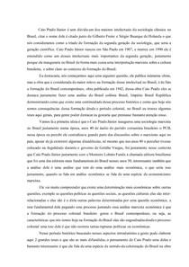 Resenha acerca do Sociólogo Caio Prado Junior