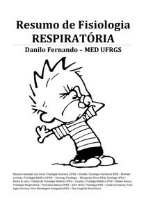 Resumo de Fisiologia Respiratória