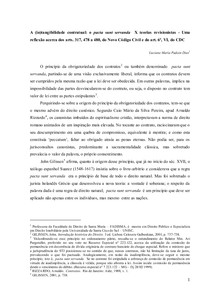 A (in)tangibilidade contratual: o pacta sunt servanda  X teorias revisionistas - Uma reflexão acerca dos arts. 317, 478 a 480, do Novo Código Civil e do art. 6º, VI, do CDC