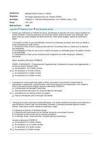 prova psicologia-avaliação II