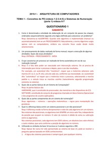 GABARITO ARQ COMP Questionário 1 TEMA 1 videos 1 2 3  4 5  2019 1