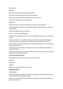 resumo ANSIOLÍTICOS e anestesicos Farmacologia