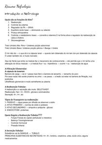 Resumo Nefrologia - Avaliacao da Funcao Renal