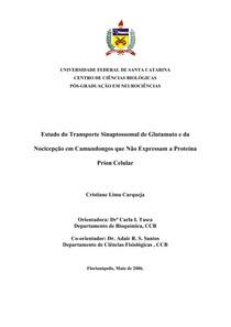 Dissertação - Estudo do Transporte Sinaptossomal de Glutamato e da Nocicepção em Camundongos que Não Expressam a Proteína Príon Celular