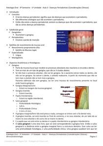 Doenças periodontais - Resumo completo por @resumodontologia