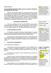 Caso Concreto 3 - Reclamação Trabalhista