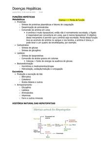 Fisiopatologia das Doenças Hepáticas