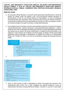FICHAMENTO RELAÇÕES CONTEMPORANEAS ESCOLA