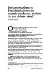 Artigo sobre PARLAMENTARISMO X PRESIDENCIALISMO - Alfred Stepan