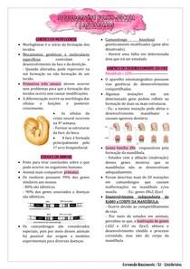 Morfogênese dento-facial e anomalias