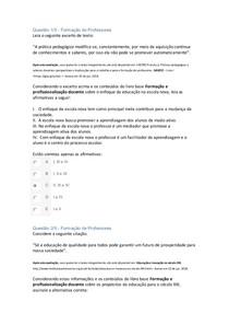 APOL FORMACAO DE PROFESSORES APOL NOTA 100