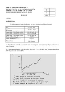 Prova Área 2 - Conceito A QGT Química Geral