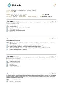 AV1 2013.2 - FUNDAMENTOS DO COMÉRCIO EXTERIOR
