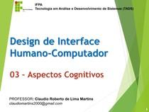 Aspectos Cognitivos em IHC