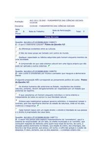 AV2 Ciencias Sociais-C
