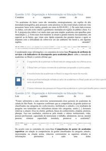 Apol 2 - Organização e Administração na Educação Física nota 100