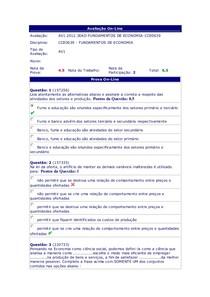 Fundamentos de Economia - (28) - AV1 - 2012.3