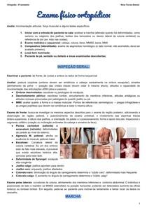 Exame físico ortopédico