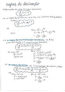 Cálculo I - Regras de derivação