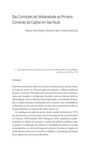 Das Comissões de Solidariedade ao Primeiro Comando da Capital em São Paulo