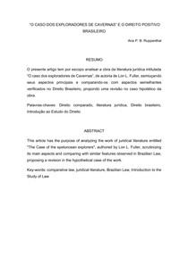 TRABALHO Análise da obra O caso dos exploradores de cavernas