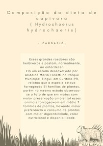Capivara( Hydrochoerus hydrochaeris) - Dieta