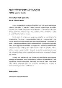 modelo 2 RELATÓRIO DIFERENÇAS CULTURAIS