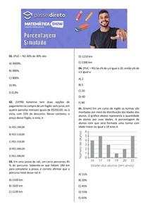 Simulado - Porcentagem
