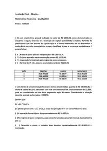 PROVA FINAL OBJETIVA DE MATEMÁTICA FINANCEIRA 27/08/2018 7569234