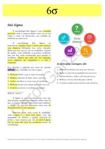 Resumo - Seis Sigma