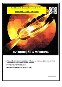 Introdução Medicina Legal - Universidade do Porto