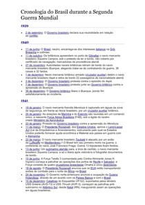 Cronologia do Brasil na Segunda Guerra