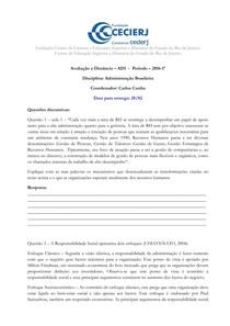 AD1   Adm Brasileira   Carlos Cunha  2016 1