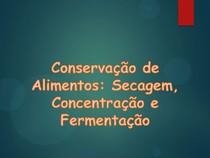 Aula 7 - Conservação - Secagem