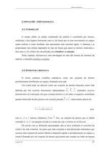 Cristalografia - Redes de Bravais