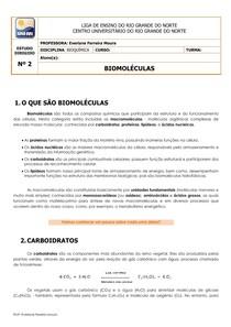 ESTUDO DIRIGIDO Nº2 BIOMOLÉCULAS 2014
