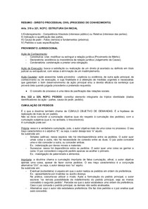RESUMO   Direito Processual Civil (Processo de Conhecimento)
