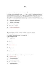 AS 2 Ciências Econômicas e Administrativas EAD UNICSUL
