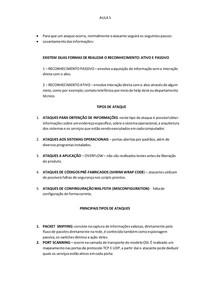 INTRODUÇÃO A SEGURANÇA DE INFORMAÇÃO AULA 5