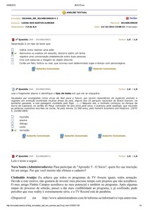 analise textual simulado