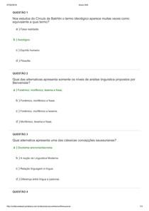 prova linguistica 1. Unifacvest