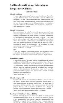 Análise de perfil de carboidratos na Bioquímica Clínica - OnBiomedical