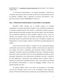 Auto analise e autogestão - Gregorio Baremblit