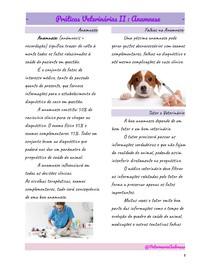 Práticas Veterinárias II - Anamnese - 2º SEMESTRE (FMU)