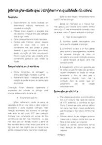 FATORES PRÉ ABATE- CURA DE CARNES-CÁRNEOS EMULSIONADOS