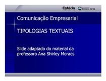 CEL0014-WL-LC-Aula 2 - Tipologia Textual [Modo de Compatibilidade]