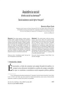 texto 4 Assistência social direito ou benesse