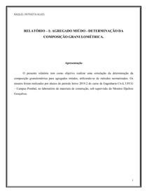 Relatório I - Granulometria dos agregados miúdos