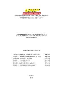 50452101890 APS ENGENHARIA UNIP III SEMESTRE CARRO - Aps 4º Semestre - 5
